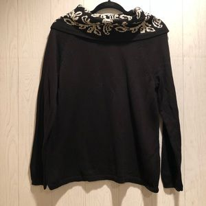 Christopher and Banks Black Cowl Neck Sweater